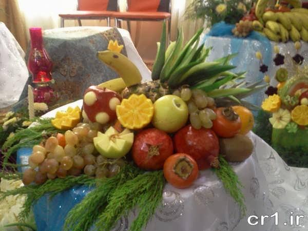 تزیین میوه ساده سفره عقد