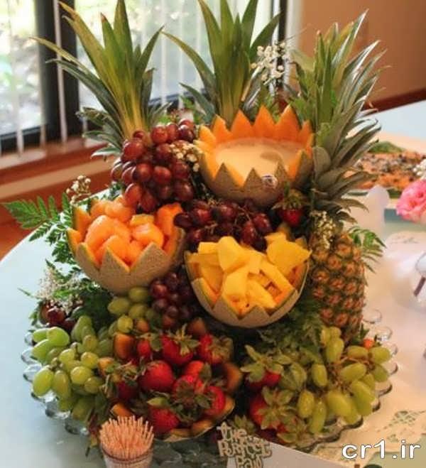 آموزش میوه آرایی برای سفره عقد