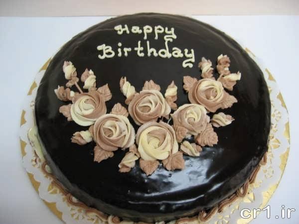 تزیین کیک با شکلات آب شده