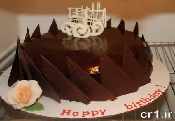 تزیین کیک شکلاتی جدید برای تولد