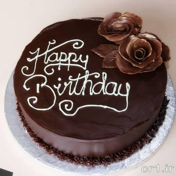 تزیین روی کیک تولد با شکلات و خامه
