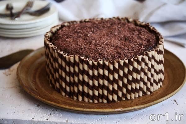 تزیین جدید کیک با شکلات