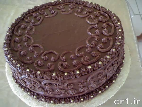 تزیین کیک با شکلات چیپسی