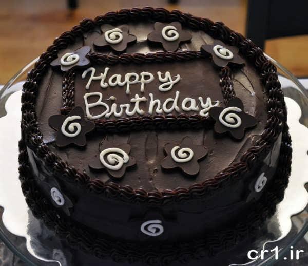 تزیین کیک تولد با شکلات تخته ای