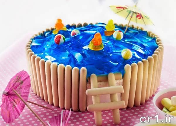 تزیین روی کیک با ژله و پاستیل