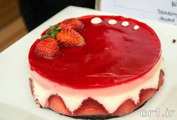 مدل تزیین کیک با ژله و میوه
