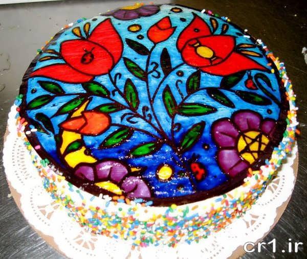 تزیین جدید کیک با ژله