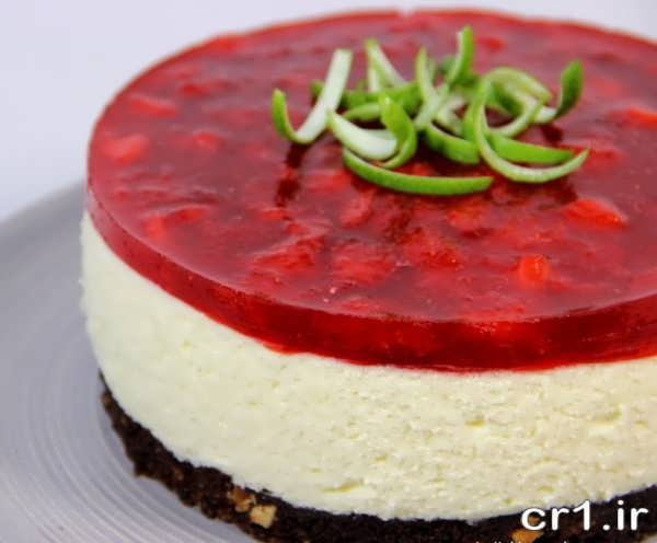 تزیین جدید کیک با ژله و خامه