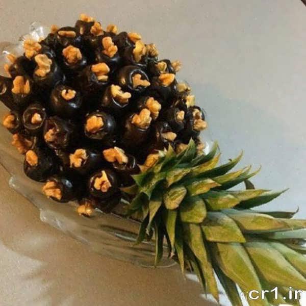 تزیین زیبای خرما به شکل آناناس