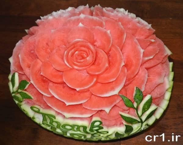 تزیینات شیک هندوانه برای شب یلدا