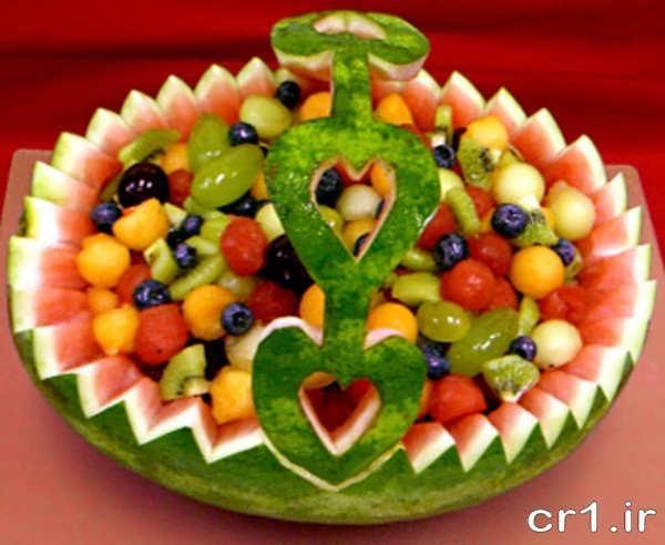 هندوانه به شکل سبد میوه