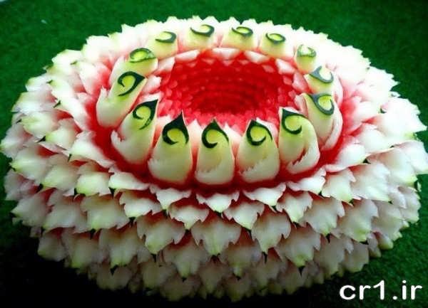 تزیین زیبای هندوانه شب یلدا