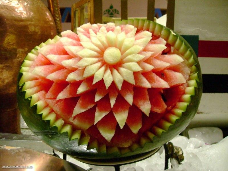 تزیین هندوانه برای شب یلدا