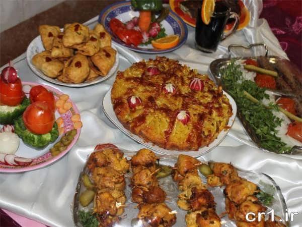 تزیینات میز غذا با ایده های جدید