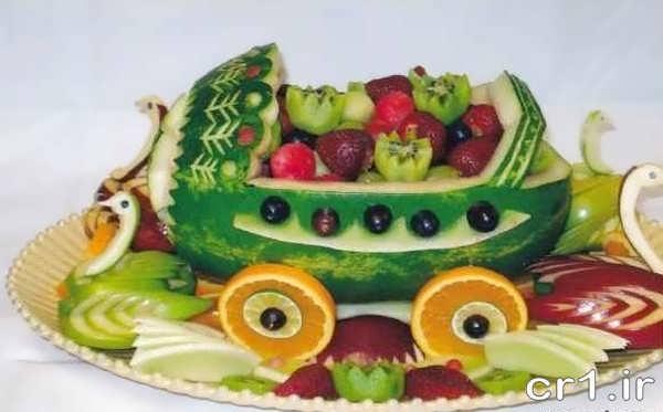 میوه آرایی با هندوانه برای جشن تولد