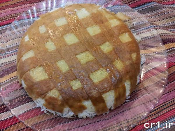 ته دیگ نان لواش زیبا