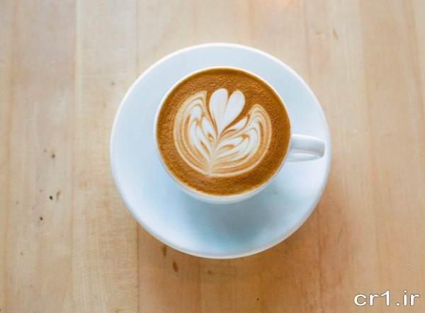 تزیین ساده فنجان قهوه