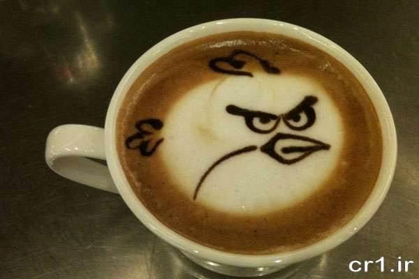 تزیین فنجان قهوه