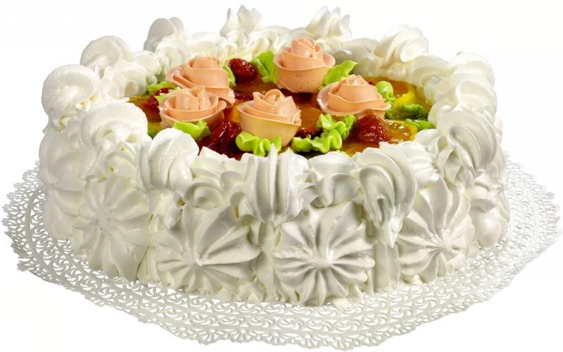 تزیین کیک خامه ای