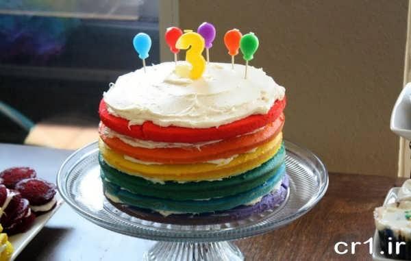 تزیین کیک تولد خامه ای