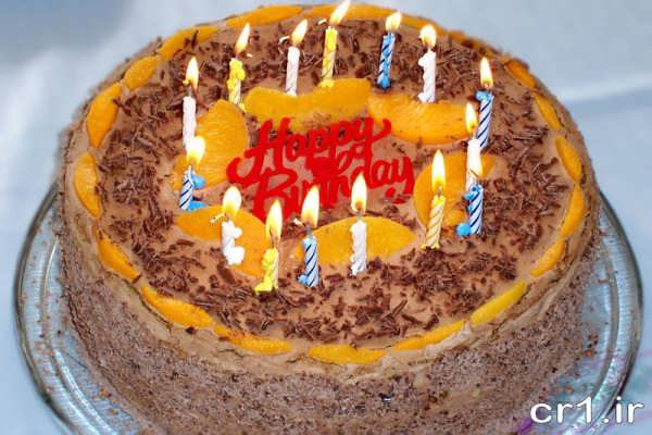 تزیین کیک خانگی برای تولد