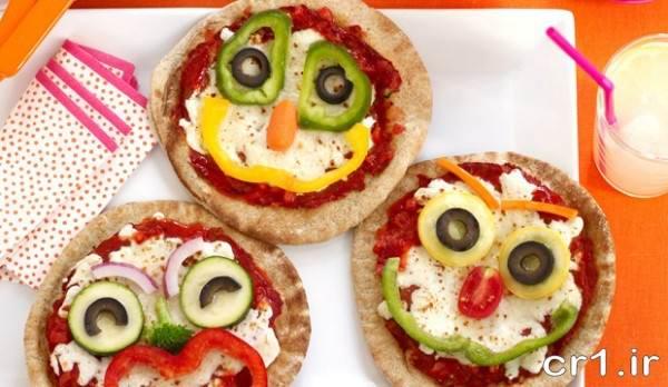 تزیین پیتزا برای کودکان