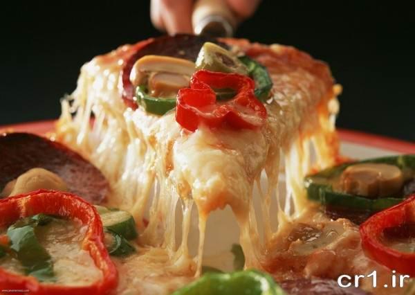 تزیین برش های پیتزا