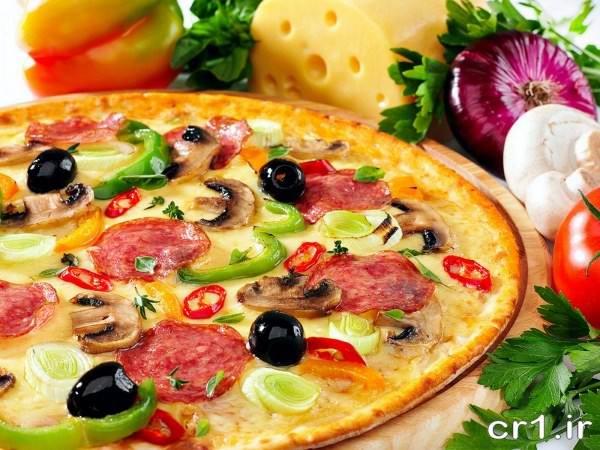 تزیین ظرف پیتزا