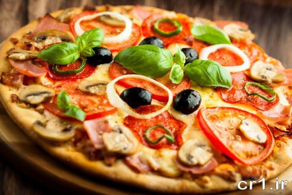 تزیین جدید پیتزا سبزیجات