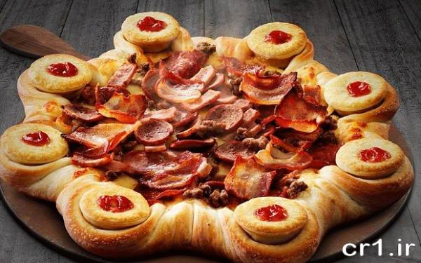 تزیین پیتزای زیبا