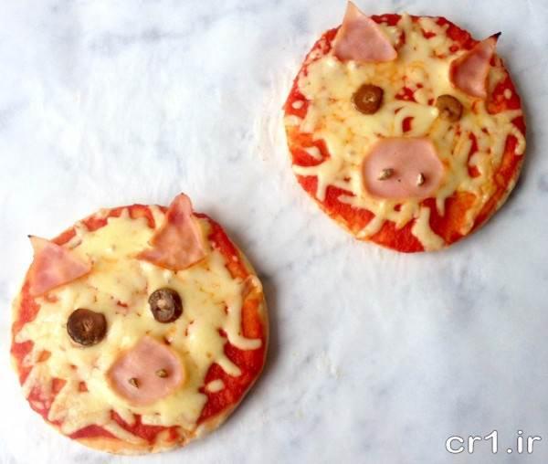 تزیین زیبای پیتزا