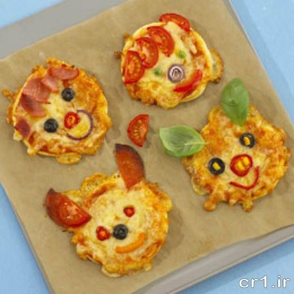 تزیین جدید پیتزا برای بچه ها