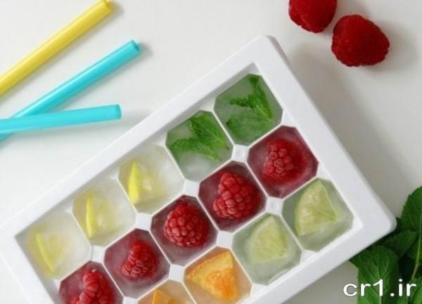 یخ قالبی با میوه