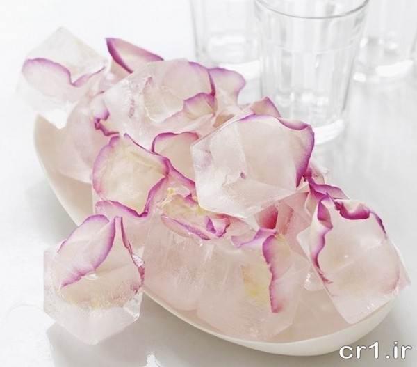 تزیینات یخ با گل