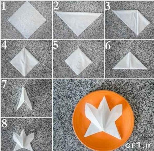 تزیین جدید دستمال کاغذی