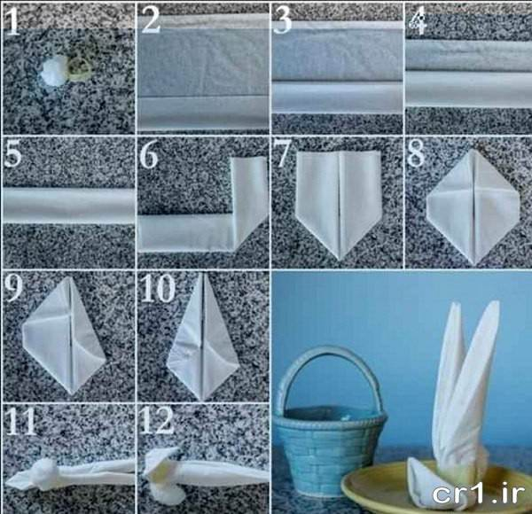 مدل تزیین زیبای دستمال کاغذی