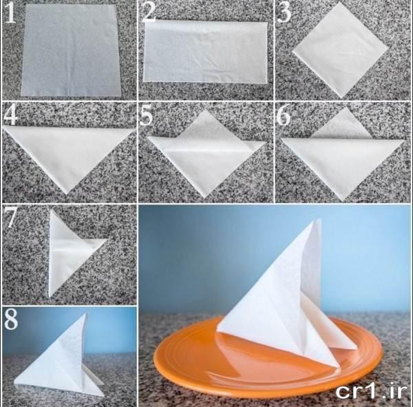 مدل دستمال کاغذی برای سفره