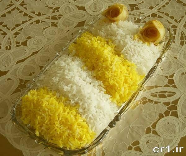 تزیینات زیبای برنج با زعفران