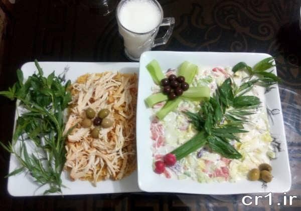تزیین غذاهای جدید و زیبا