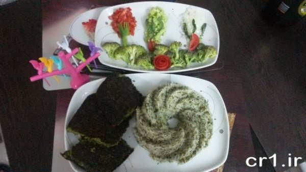 تزیین غذا مجلسی زیبا و جدید
