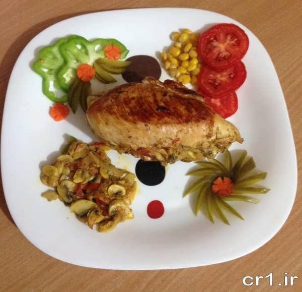 تزیین غذاهای ایرانی زیبا و شیک