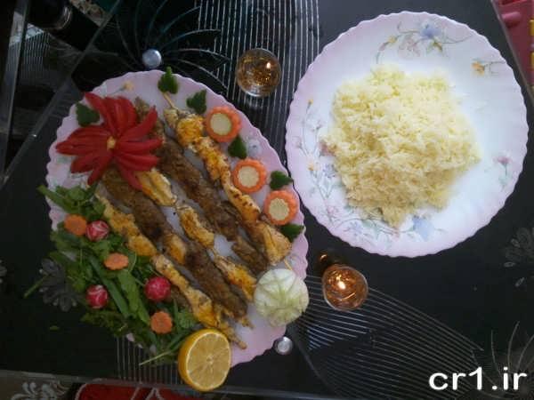 تزیین جوجه کباب مجلسی و شیک