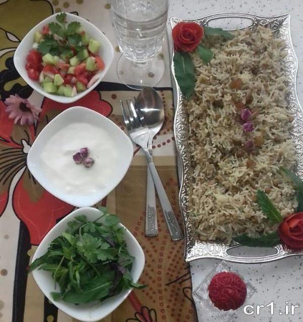 تزیین غذا ساده و زیبا