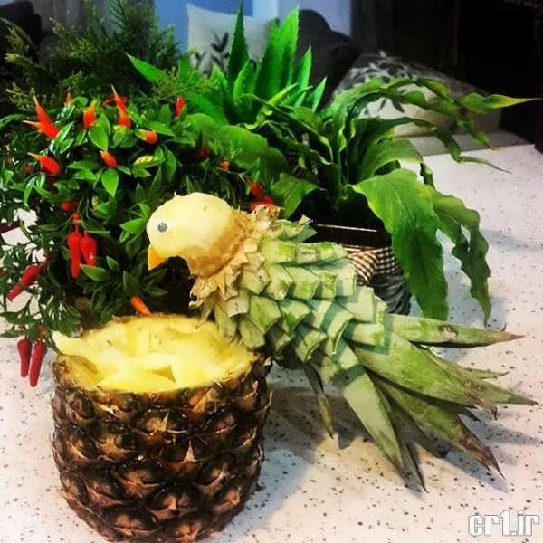 تزیین متفاوت آناناس