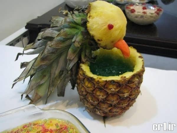 آناناس تزیین شده