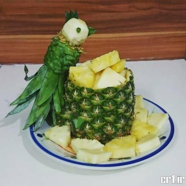 روش های تزیین زیبا آناناس
