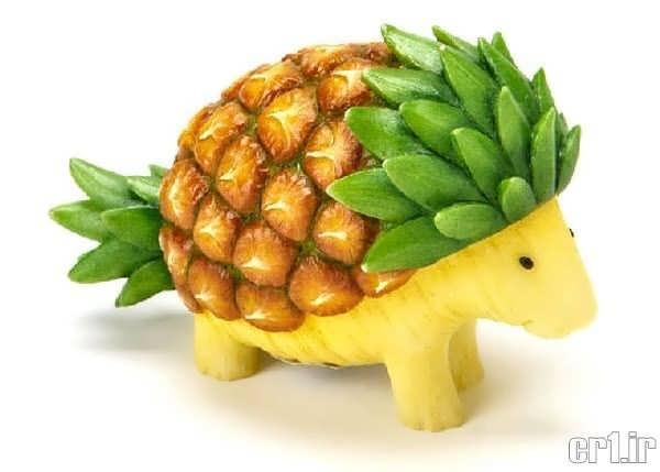 تزیین زیبا آناناس به شکل حیوانات