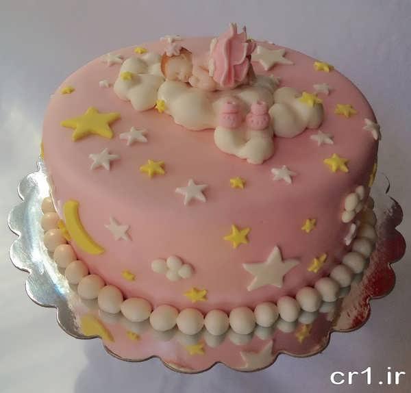 تزیین کیک تولد با فوندانت
