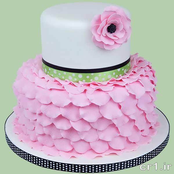 تزیین کیک عروسی با فوندات