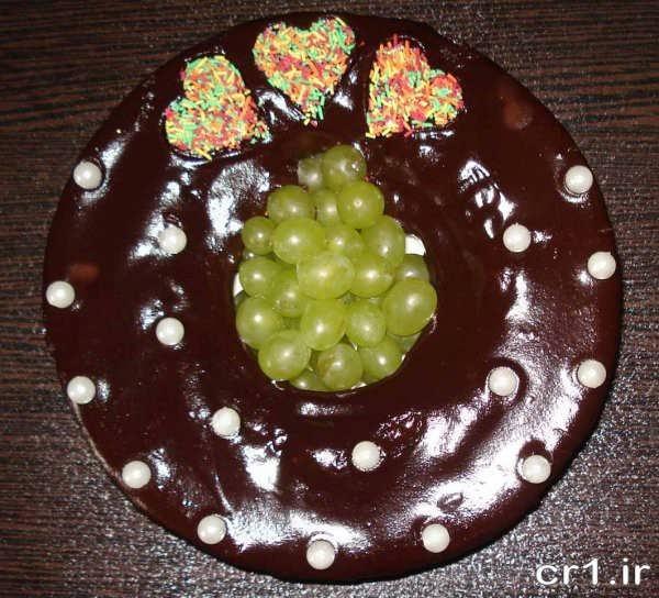 تزیین کیک با گاناش فرم گرفته